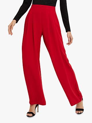 Phase Eight Nicola Pleated Trousers, Red