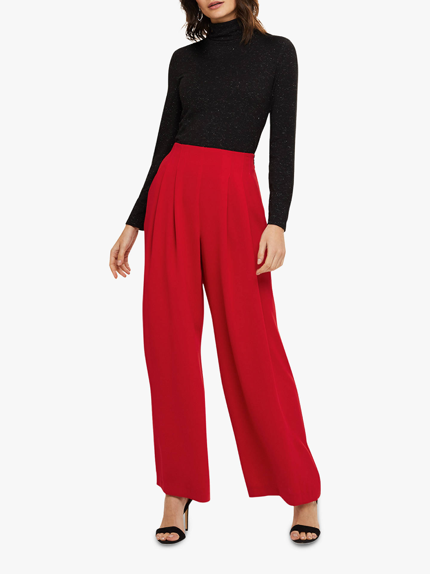 BuyPhase Eight Nicola Pleated Trousers, Red, 16 Online at johnlewis.com