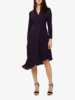 Phase Eight Justine Drape Dress, Nightshade