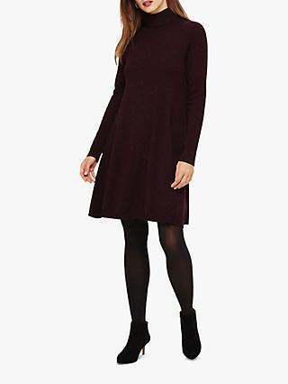 Phase Eight Melody Fleck Swing Knit Tunic, Port