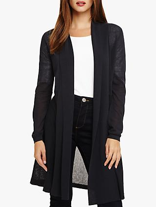 Phase Eight Sheer Lili Longline Cardigan, Charcoal