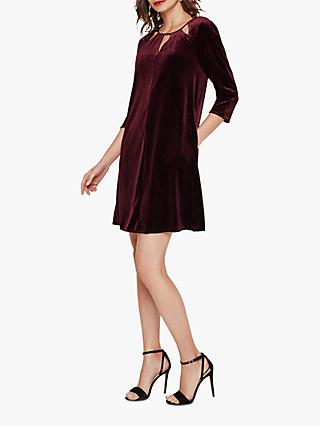 Phase Eight Zoe Luxe Velvet Dress, Grape