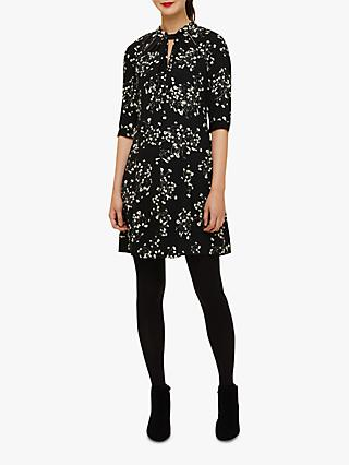 Phase Eight Carolina Floral Dress, Black/Ivory