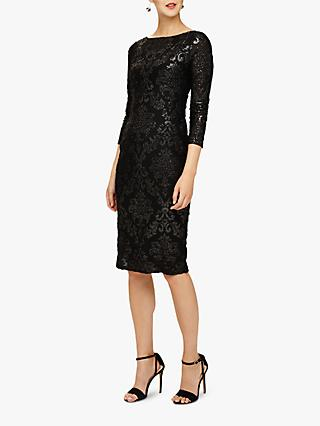 Phase Eight Petra Burnout Dress, Black