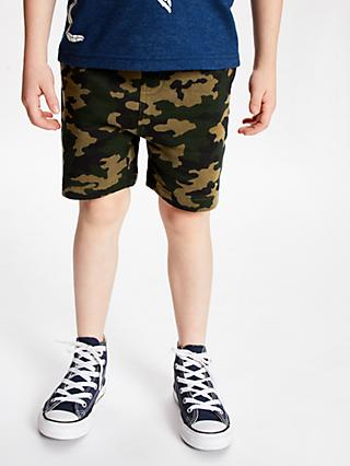 John Lewis & Partners Boys' Camouflage Shorts, Green