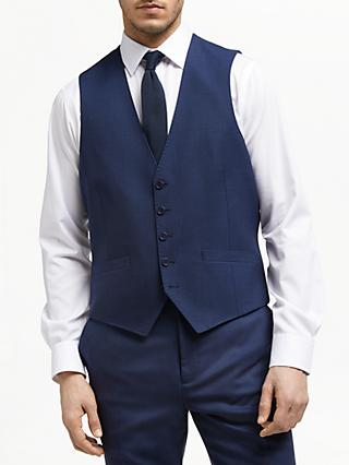 Ted Baker Bagel Birdseye Tailored Waistcoat, Navy