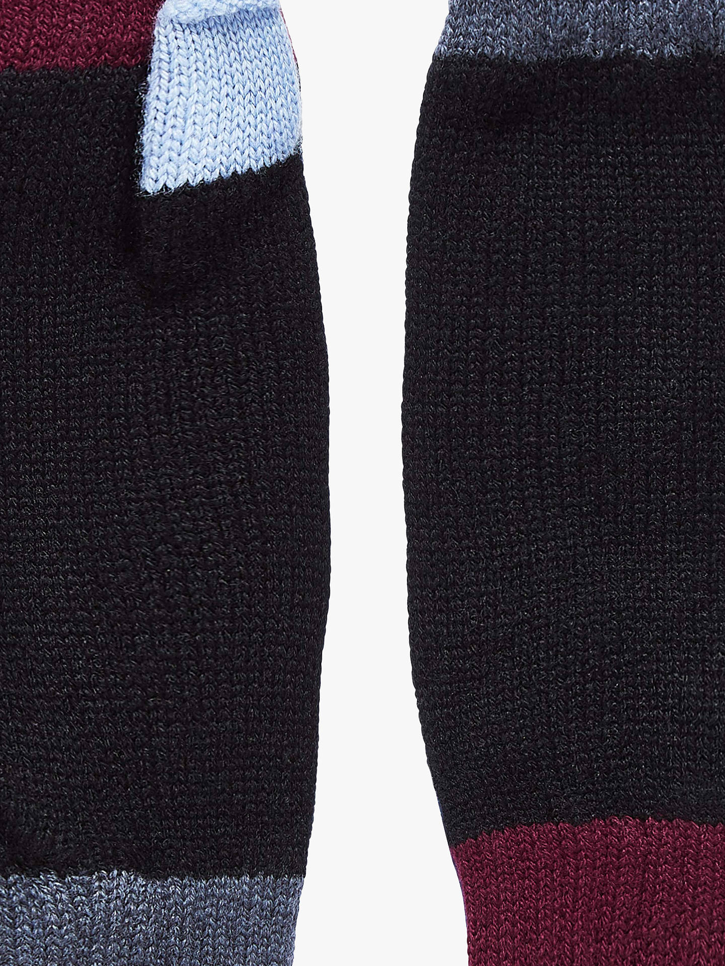 Buy Brora Colour Block Cashmere Wristwarmers, Black, One Size Online at johnlewis.com