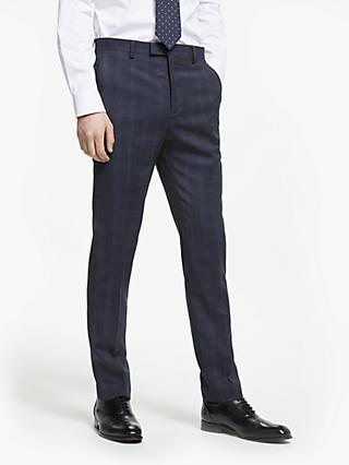 Ted Baker Avo Check Tailored Suit Trousers, Blue