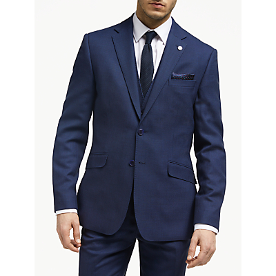 Ted Baker Bagel Birdseye Tailored Suit Jacket, Navy