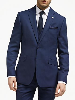 Ted Baker Bagel Birdseye Tailored Suit Jacket, Navy