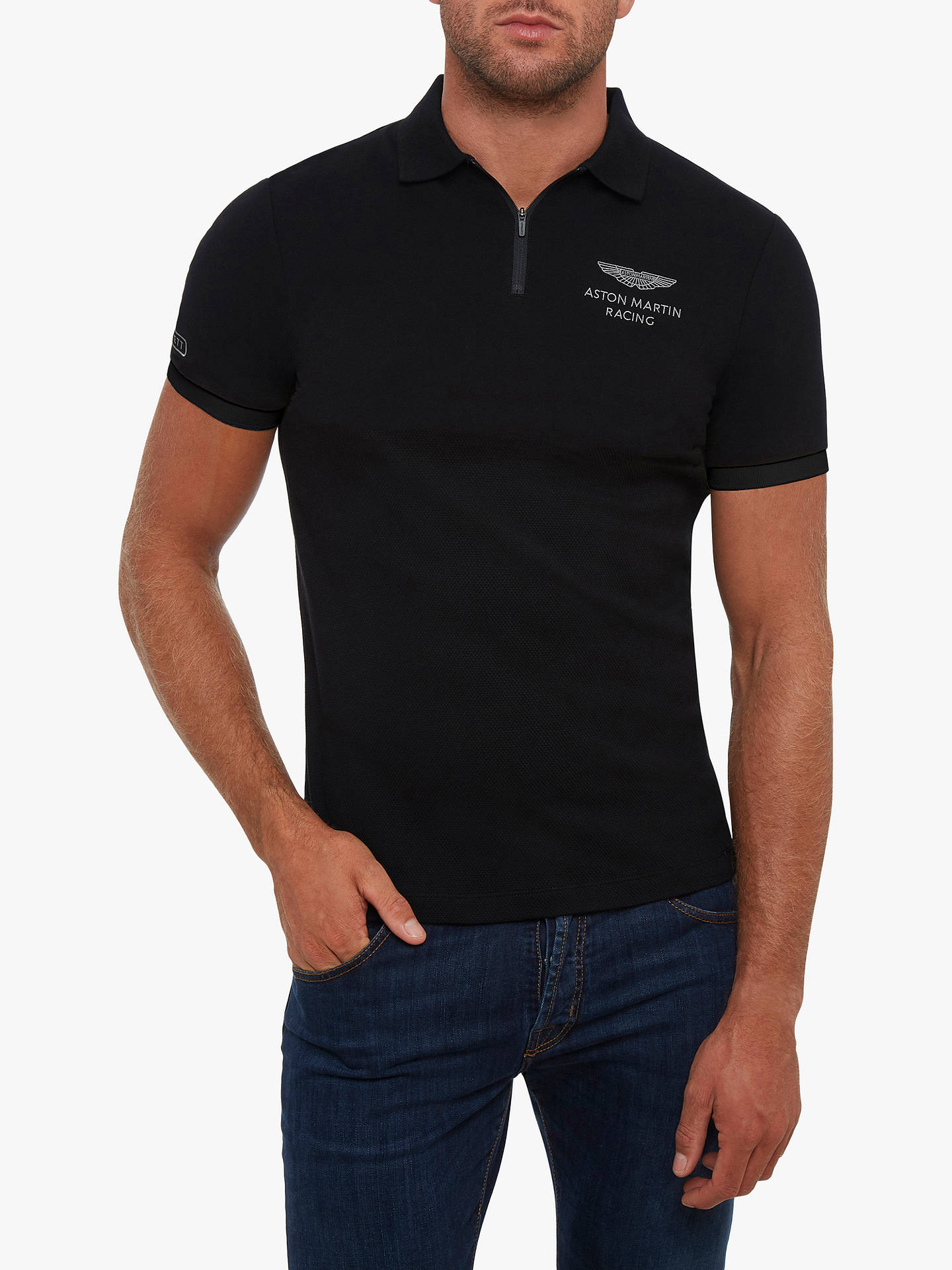 bc1884cf01c Buy Hackett London Aston Martin Half Zip Polo Shirt