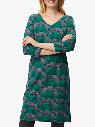White Stuff Good Day Dress, Skye Green Print