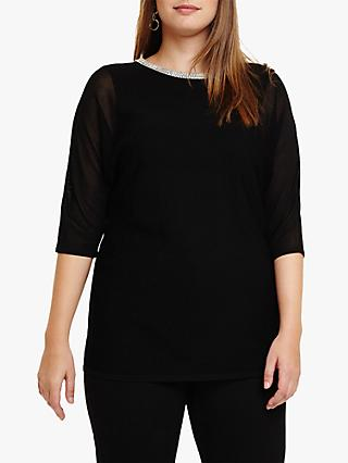Studio 8 Daisy Knit Top, Black