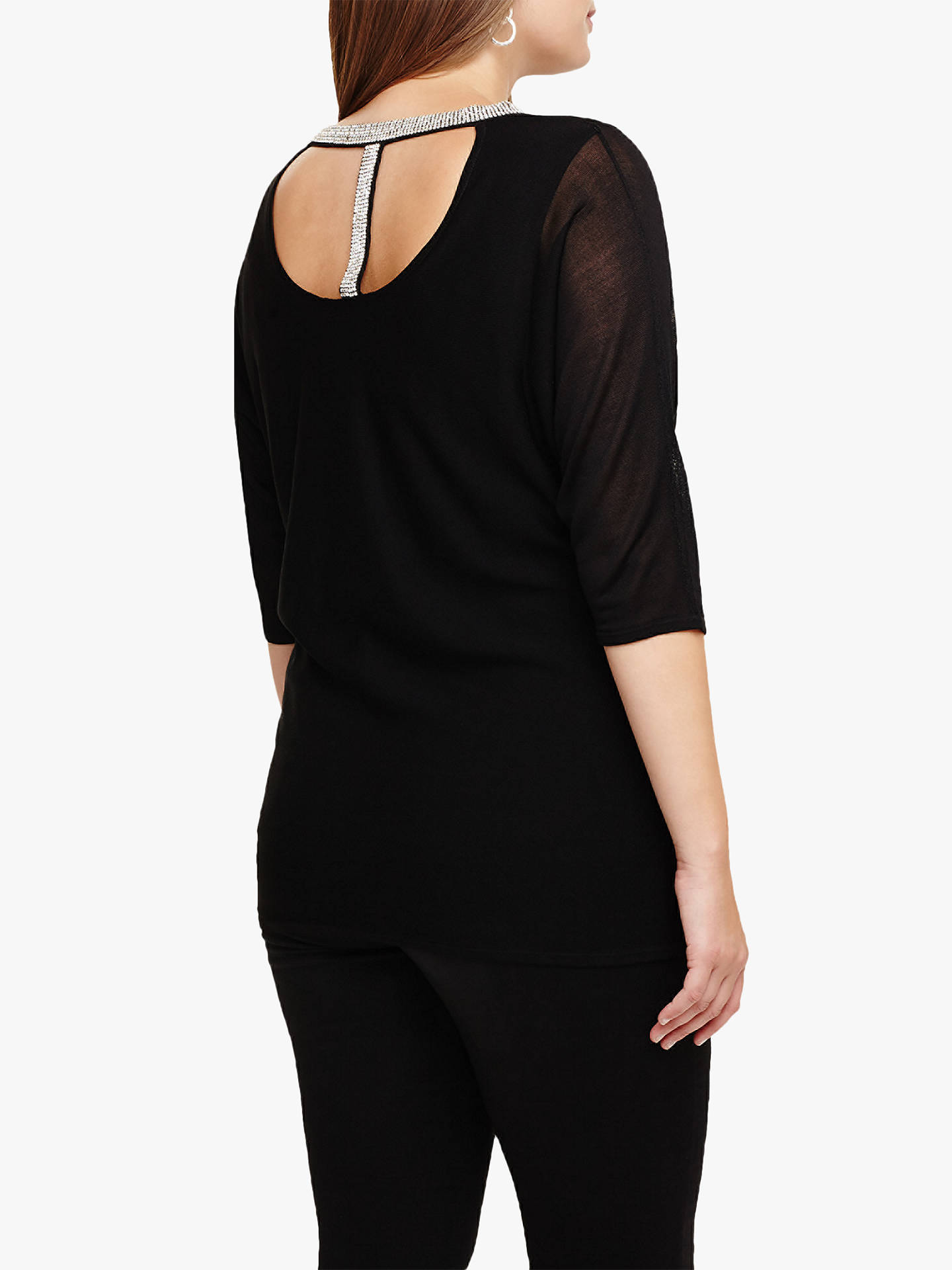 BuyStudio 8 Daisy Knit Top, Black, 16 Online at johnlewis.com