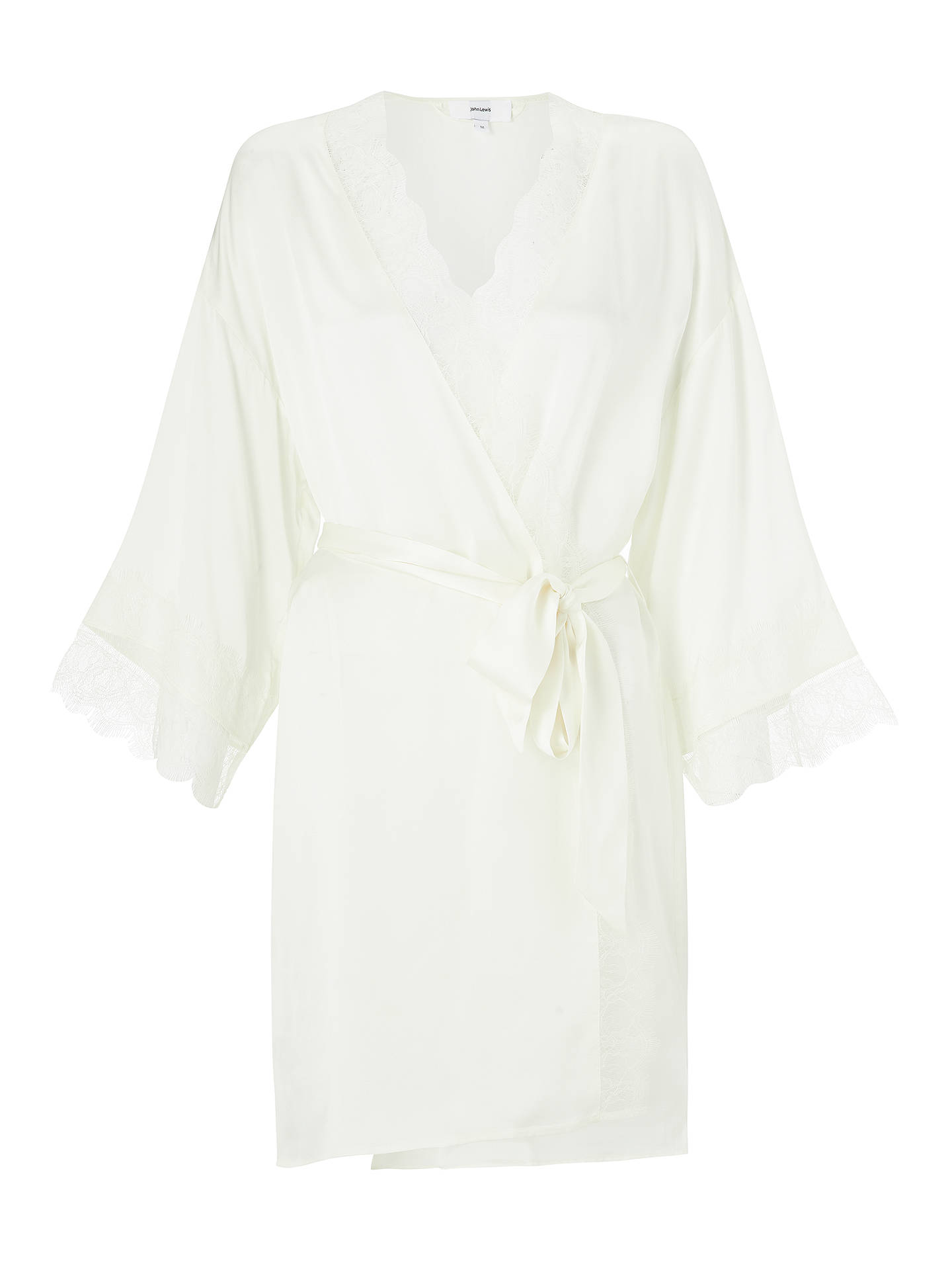 ba03de717f7 ... Buy John Lewis   Partners Silk Lace Trim Dressing Gown