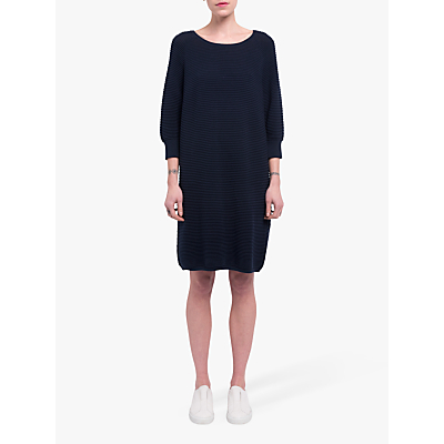 Image of French Connection Mozart Ripple Jumper Dress, Utility Blue