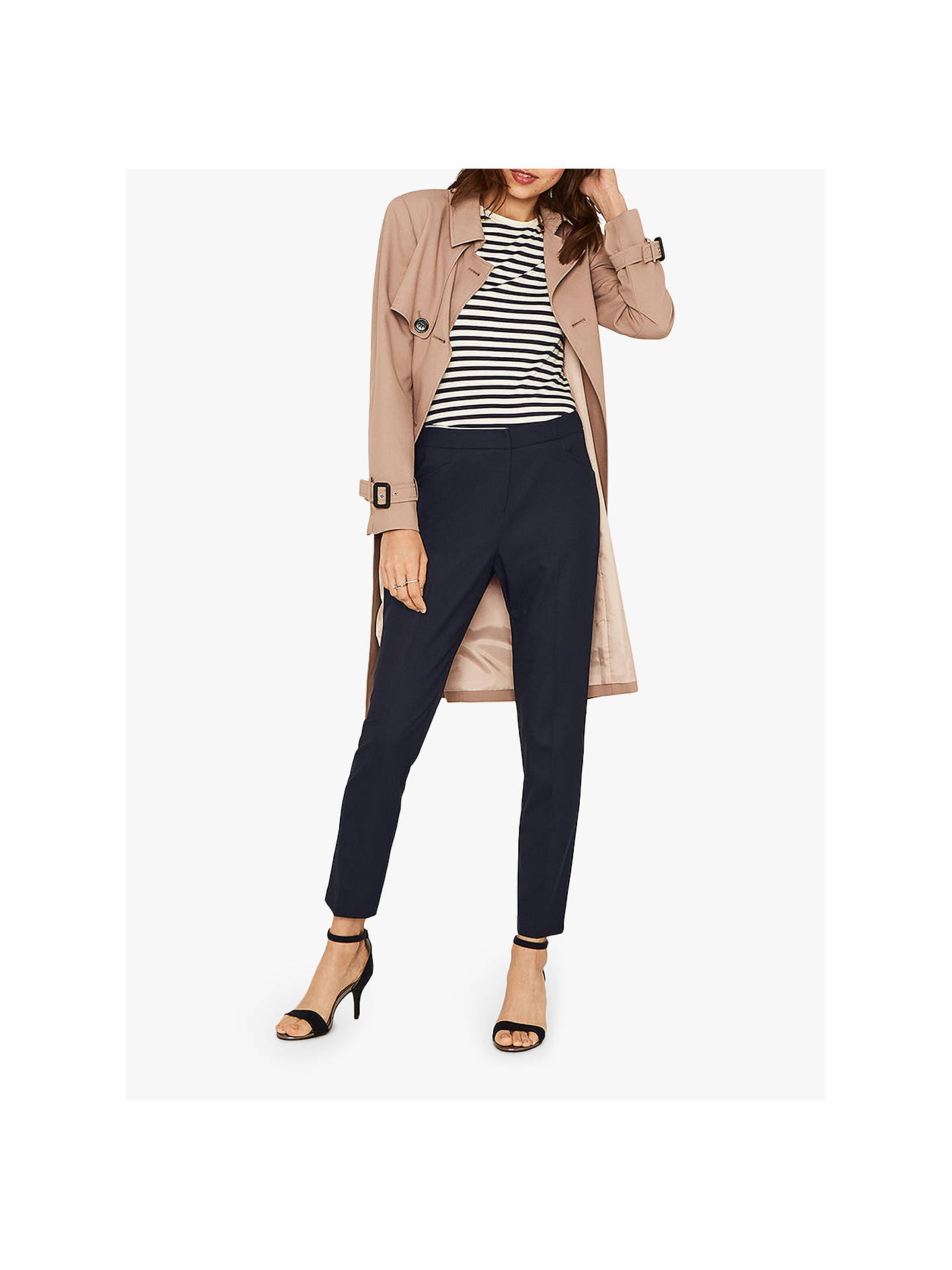 BuyOasis Workwear Trousers, Navy, 8 Online at johnlewis.com