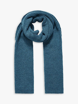 Buy Brora Cashmere Gauzy Knit Scarf, Ocean, One Size Online at johnlewis.com