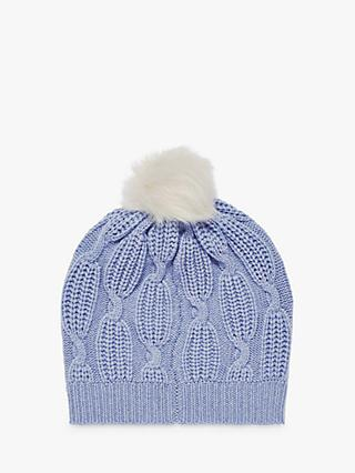 Brora Cashmere Knit Pom-Pom Beanie Hat 5abe396f79a1