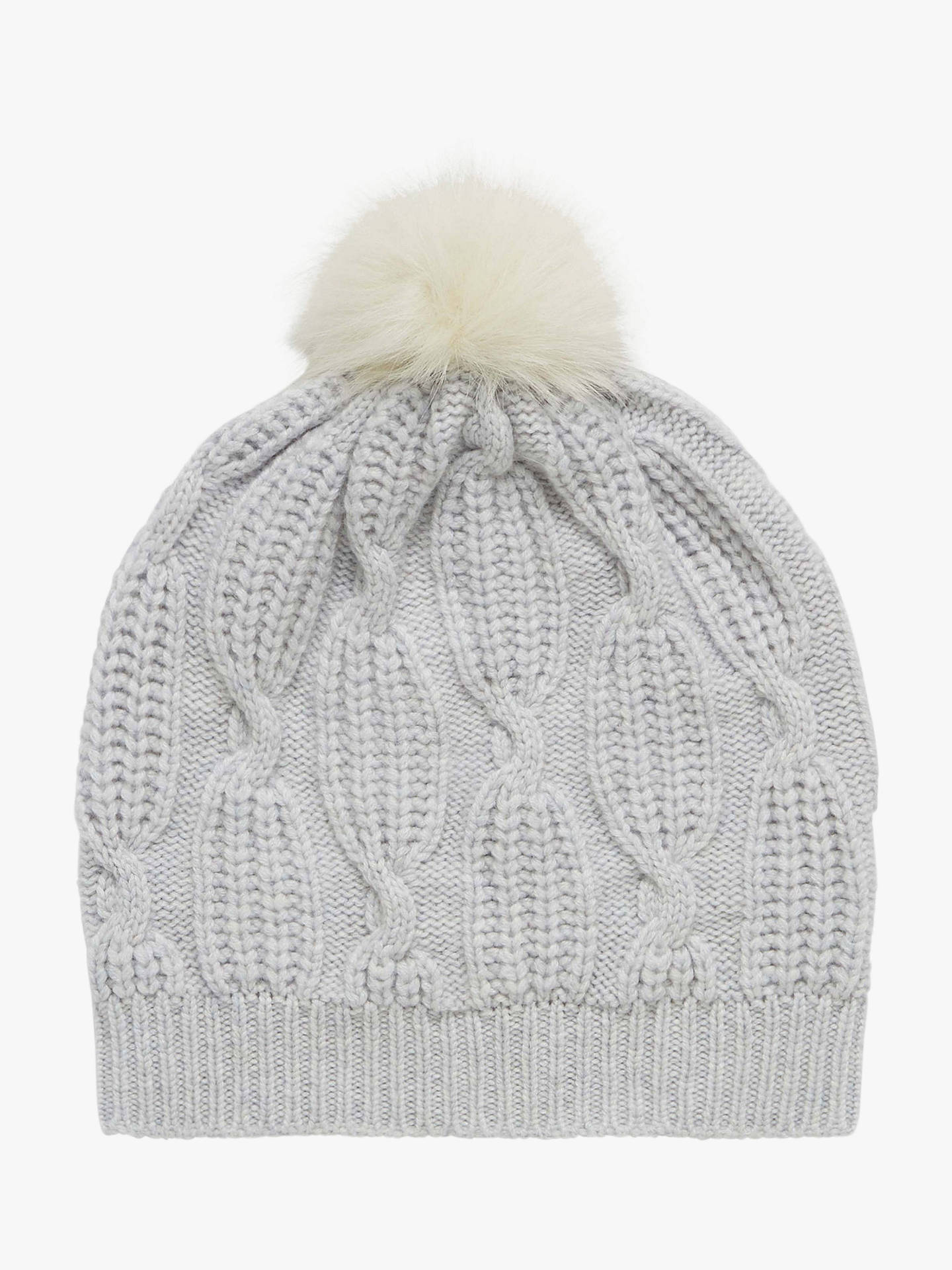 32d894e0f54d3b Brora Cashmere Knit Pom-Pom Beanie Hat at John Lewis & Partners
