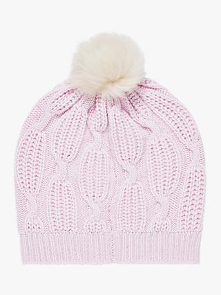 37e446051518d Exclusive to John Lewis   Partners and Brora. Brora Cashmere Knit Pom-Pom Beanie  Hat