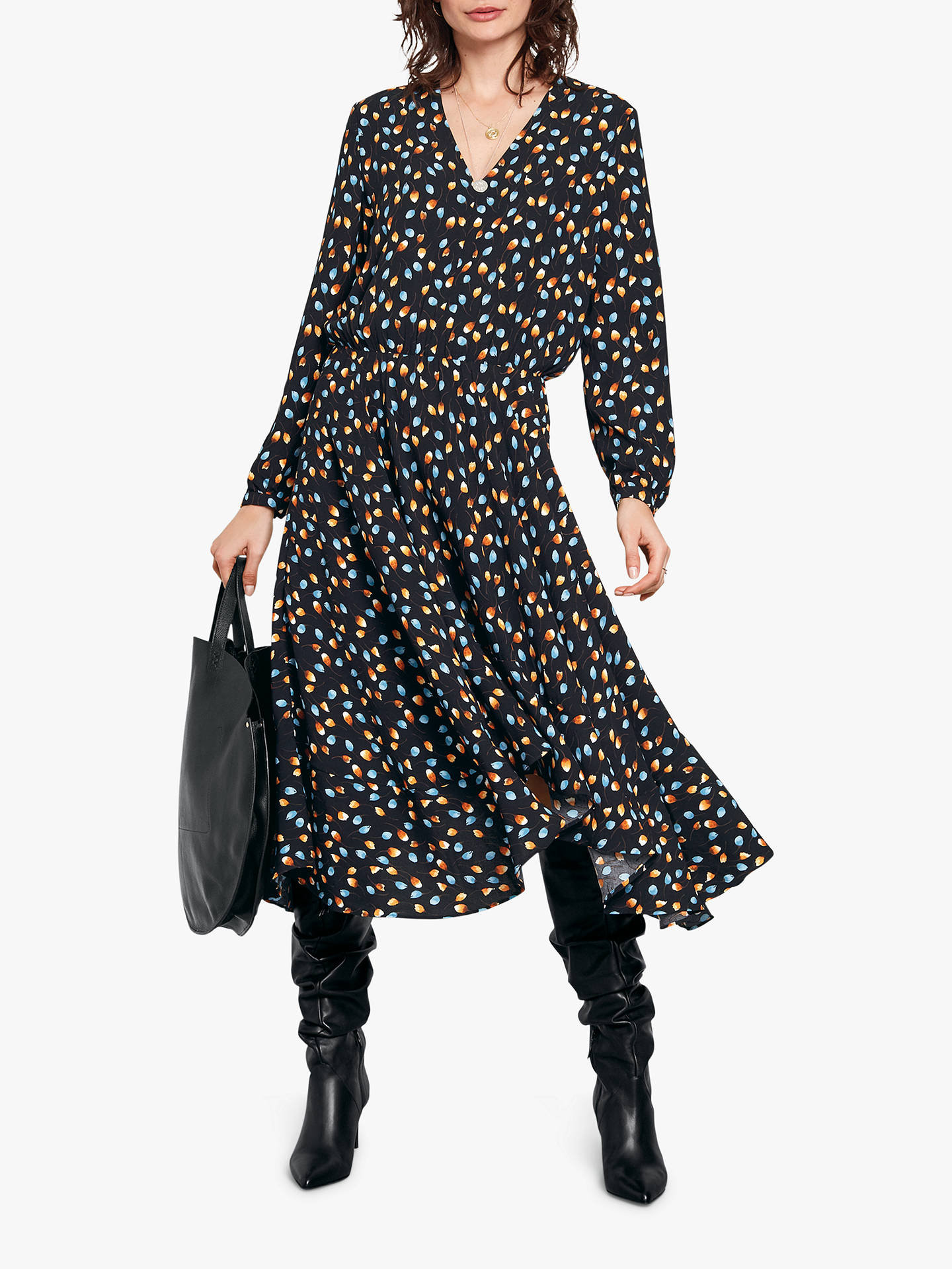 fa299d21a5e Buyhush Idalia Maxi Dress, Black Multi, 8 Online at johnlewis.com ...
