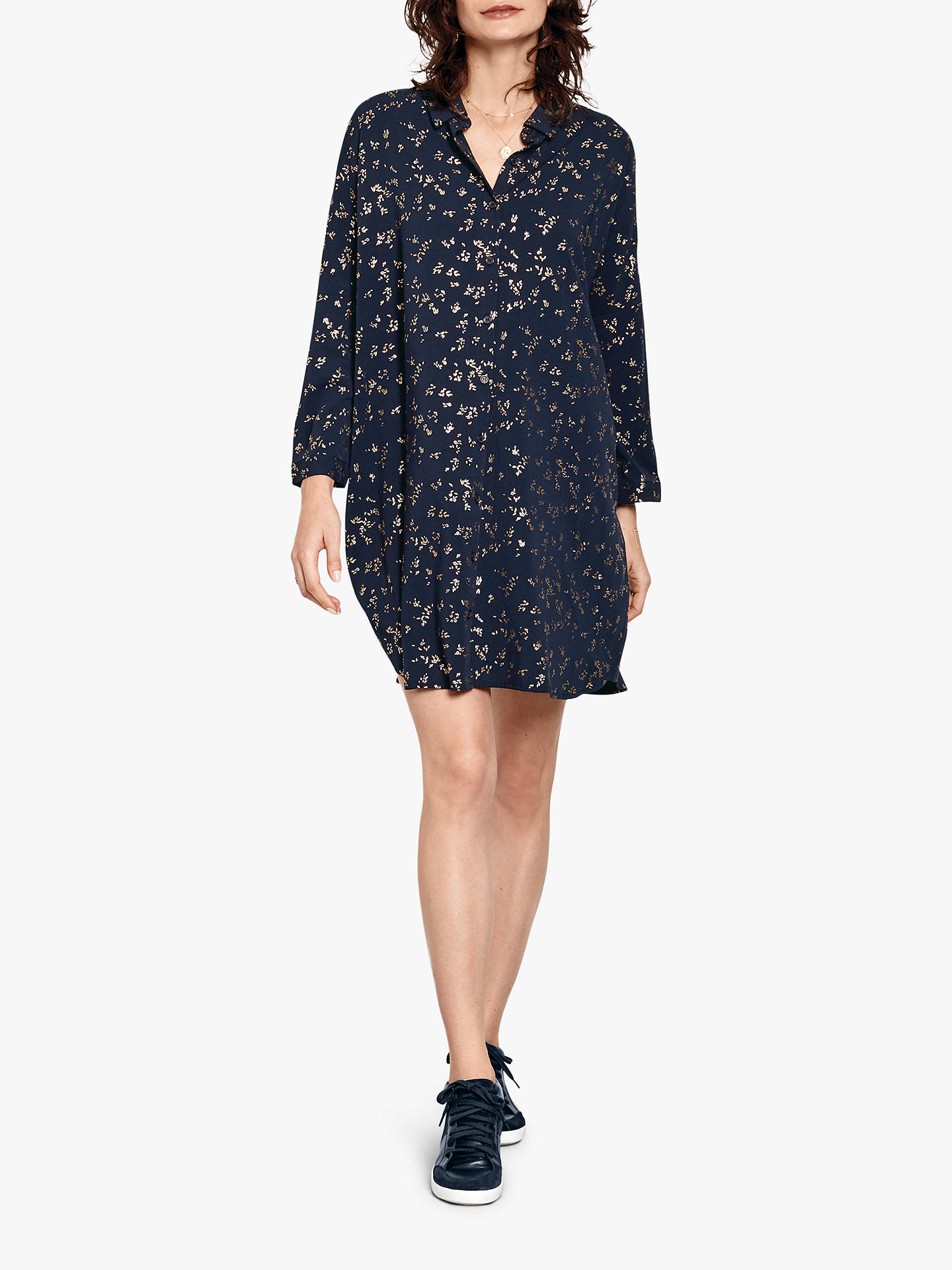 Buyhush Long Sleeve Bloomsbury Dress, Midnight/Gold, 10 Online at johnlewis.com