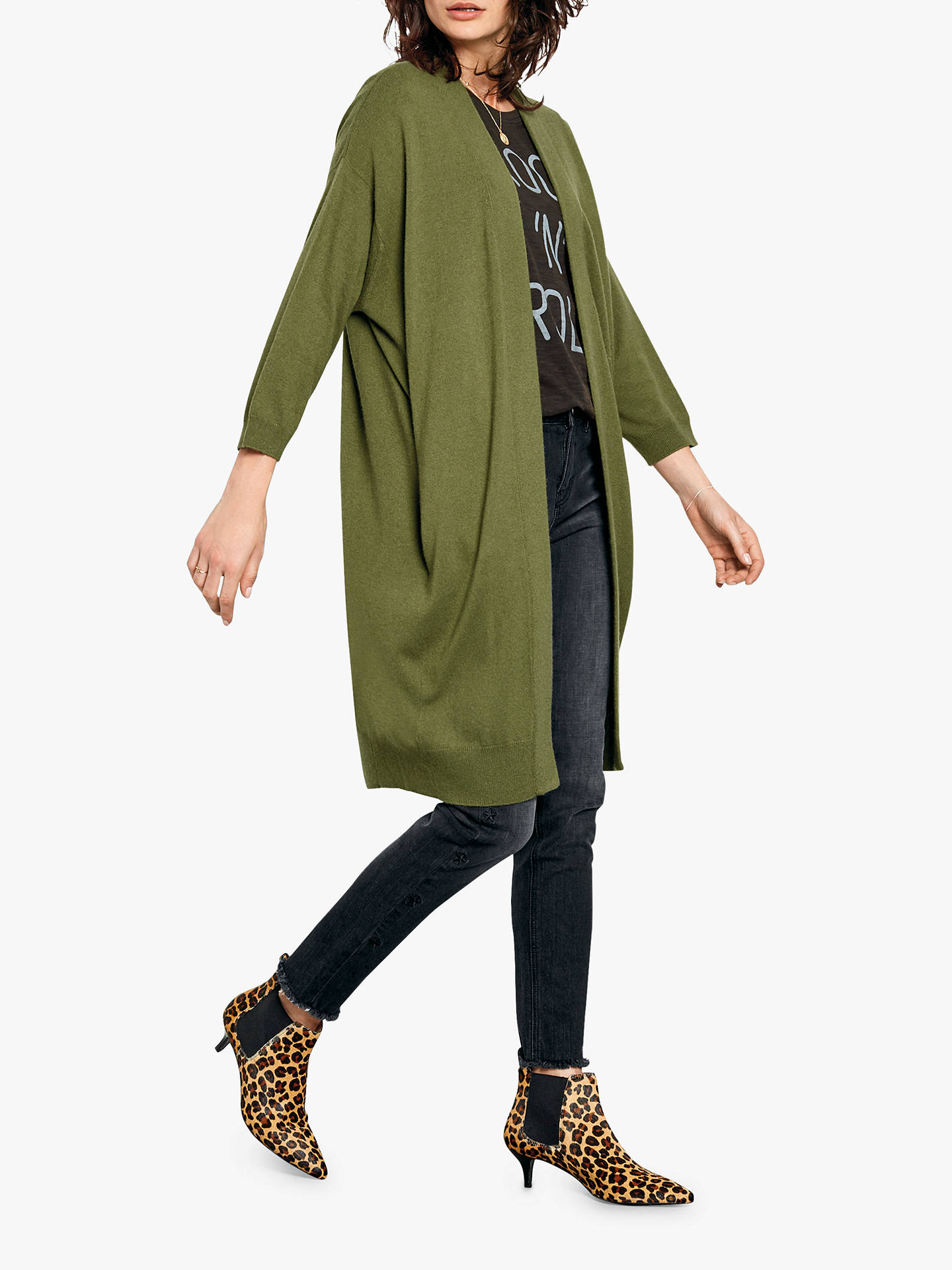 Buy hush Sabrina Cardigan, Olivine, L Online at johnlewis.com