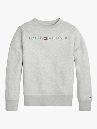 Tommy Hilfiger Boys' Essential Logo Sweatshirt, Grey