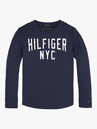Tommy Hilfiger Boys' Long Sleeve T-Shirt, Navy