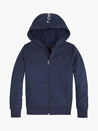 Tommy Hilfiger Boys' Essentials Full Zip Hoodie, Navy