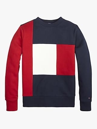 Tommy Hilfiger Boys' Colourblock Sweatshirt, Navy