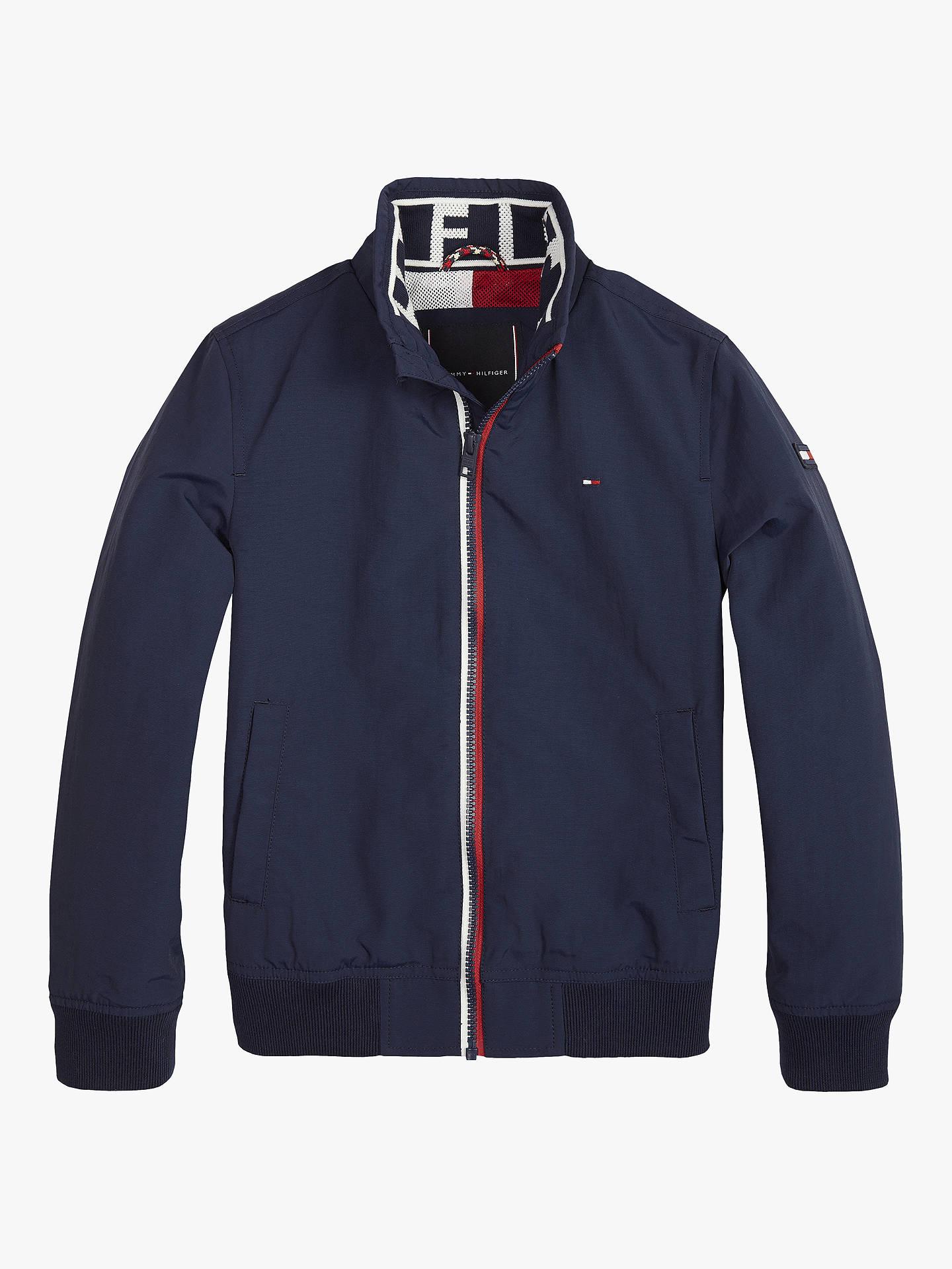 0baac40c5 Buy Tommy Hilfiger Boys' Essential Jacket, Navy, 16 years Online at  johnlewis.