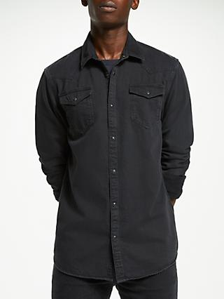 Scotch & Soda Denim Shirt, Black