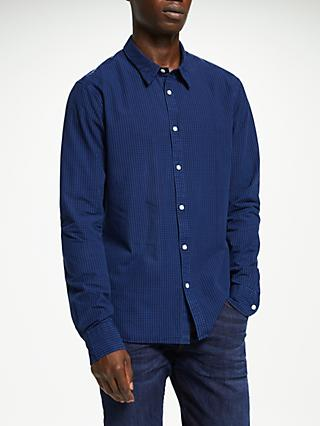 Scotch & Soda Cotton Check Shirt, Blue Combo