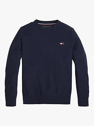 Tommy Hilfiger Boys' Structured Cotton Knitted Sweatshirt, Navy