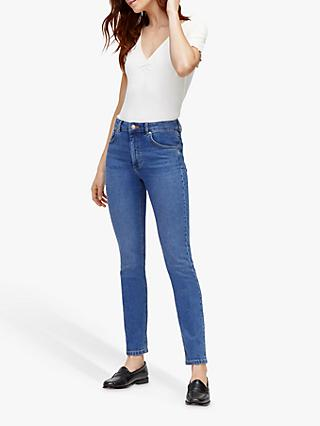 Warehouse Sculpt High Rise Skinny Fit Jeans, Mid Wash Denim