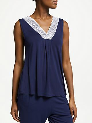 John Lewis & Partners Alicia Pyjama Top, Navy