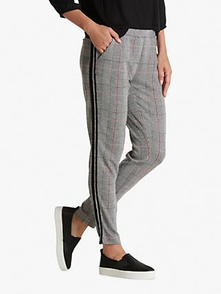 Betty & Co Skinny Check Trousers, Black/White