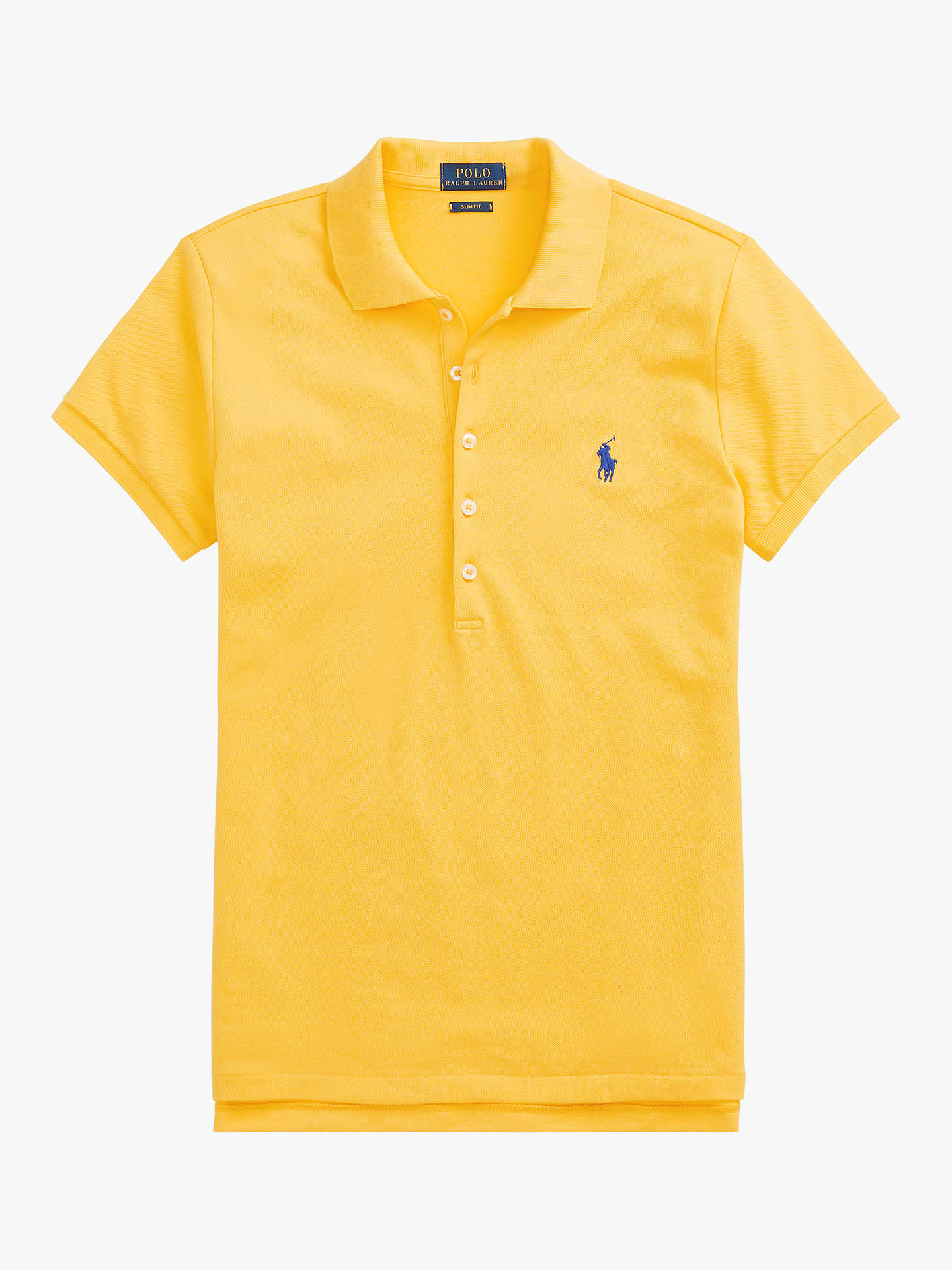 44808f2d7 Buy Polo Ralph Lauren Julie Skinny Fit Stretch Polo Shirt, Yellow, XS  Online at ...