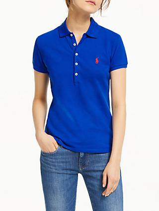 Polo Ralph Lauren Julie Skinny Fit Stretch Polo Shirt