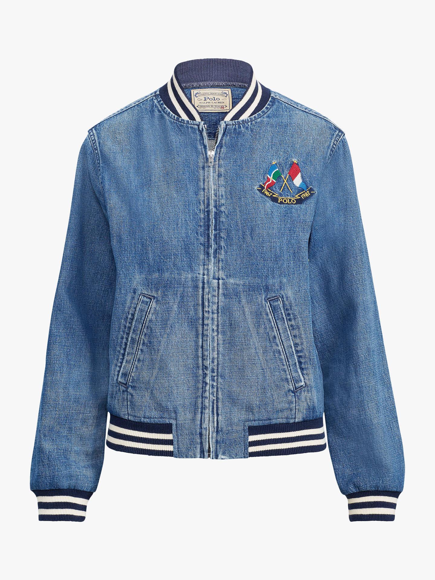 c49ea105d Polo Ralph Lauren Denim Bomber Varsity Jacket