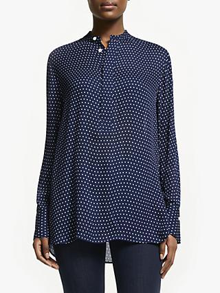5ab8c9030c117 Polo Ralph Lauren Desra Polka Dot Silk Shirt
