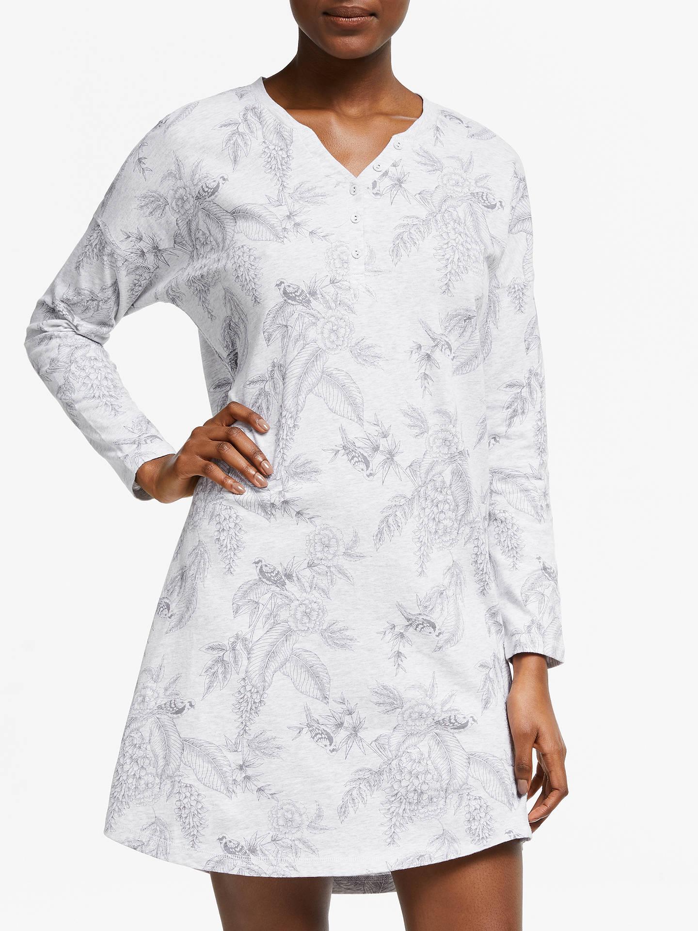 BuyJohn Lewis   Partners Adina Floral Print Long Sleeve Cotton Nightdress 4d50d1609