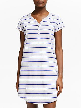 fa96038e24 John Lewis   Partners Lydia Stripe Short Sleeve Cotton Nightdress