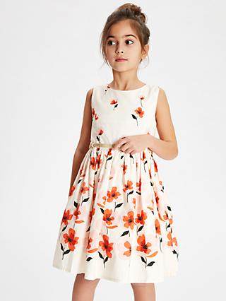 John Lewis   Partners Girls  Two Tone Floral Dress 895c06d3b