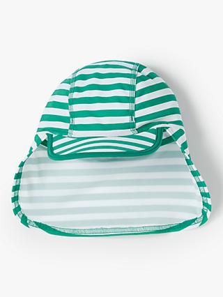 John Lewis & Partners Baby Stripe Sun Hat, Green