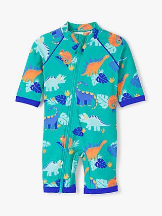 6daded109f98a John Lewis & Partners Baby DinousaurSunPro Swimsuit, Green/Multi