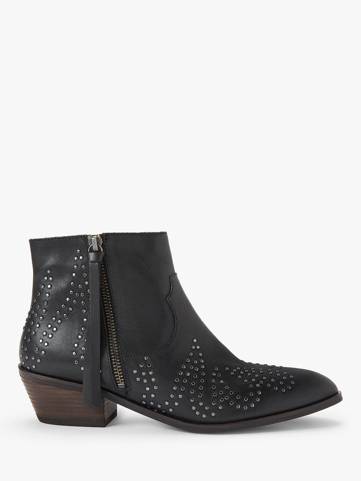 5f5fffc3083 AND/OR Paloma Studded Leather Ankle Boots, Black