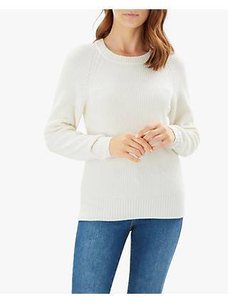 Jaeger Merino Wool Knit Jumper, White Ivory